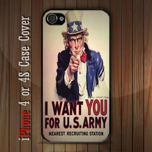 New Uncle Sam iPhone 4 or 4S case Cover iPhone case 4/4S - 1