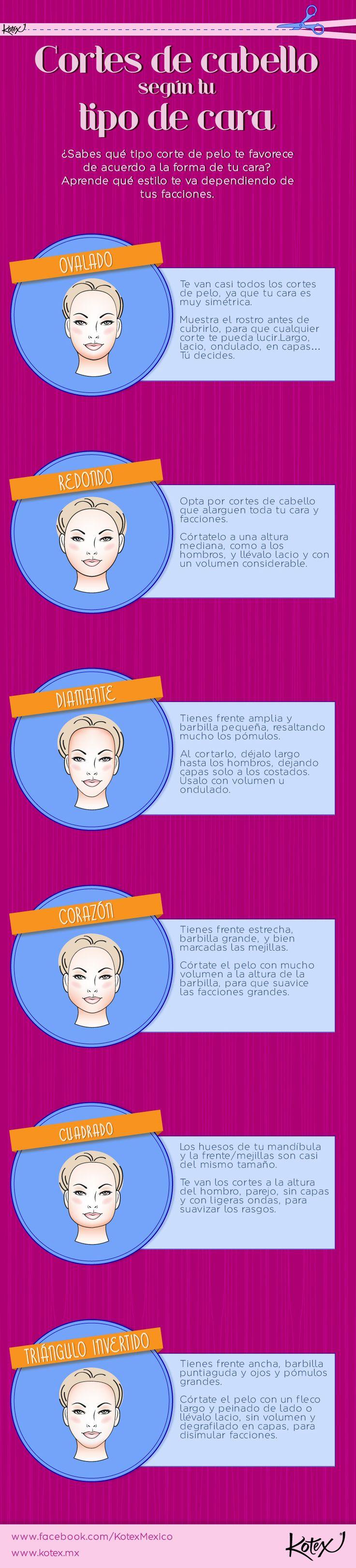 El cabello debe estilizarse según tu tipo de cara. ¿Ya sabes cuál es tu corte perfecto?