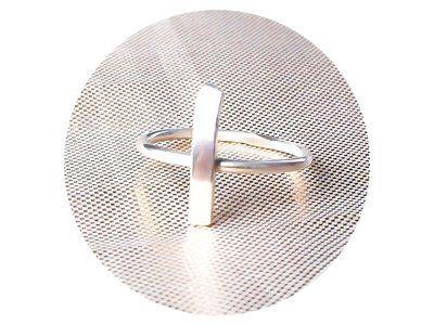 Sterling zilveren ring met kruis, sterling zilver, stapelring, aanschuifring,  kado vriendin, kado verjaardag, geboortekado,