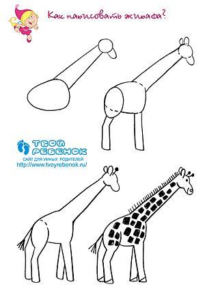 Hoe teken je een giraf