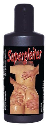 Supergleiter är en oljebaserad massageolja. Perfekt för både massage och hala lekar i sängen.  Innehåll: 200ml