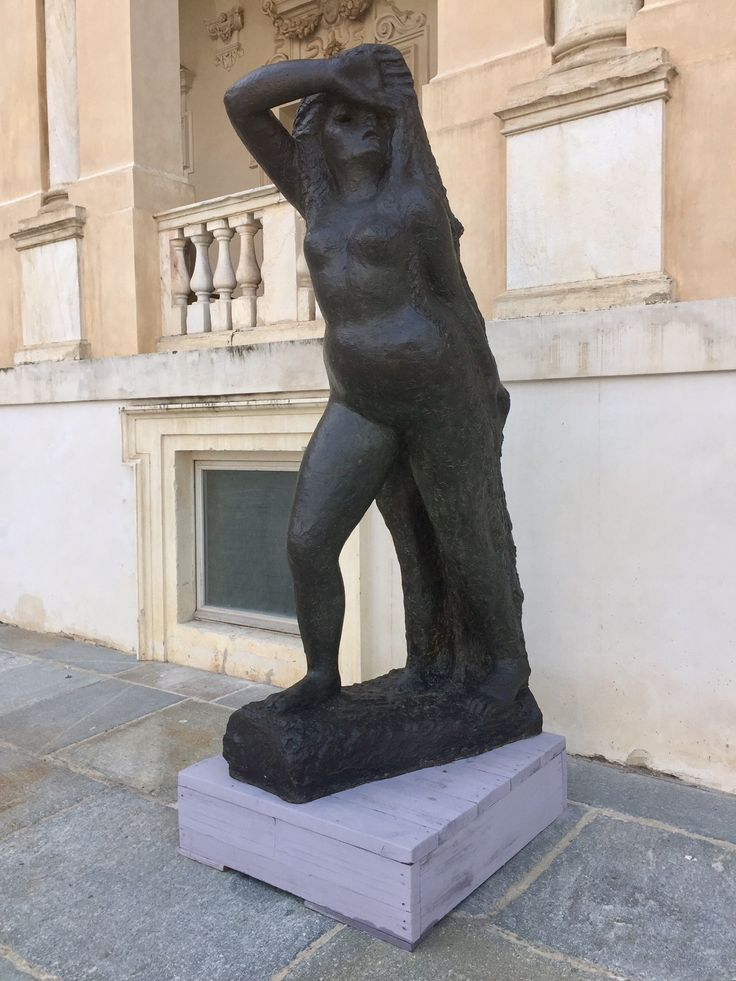 "Antonietta Raphael Mafai - ""Fuga da Sodoma"",  one of the Modern Sculptures at Reggia di Venaria"