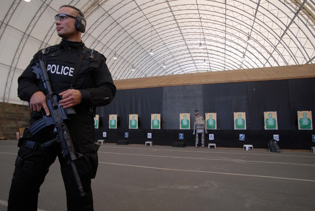 Sgt. Robert Tan from the Lower Mainland Emergency Response Team in 2009 at the RCMP's PRTC firing range in Chilliwack.