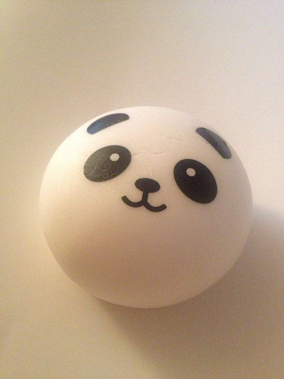 Kawaii Squishy Jumbo Scented Panda Buns  Boy by ToxyKawaii on Etsy, $5.00