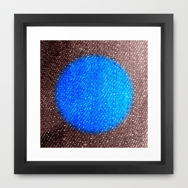 Fabric-like Blue Framed Art Print $35.00 Free shipping for the print itself through this Sunday.