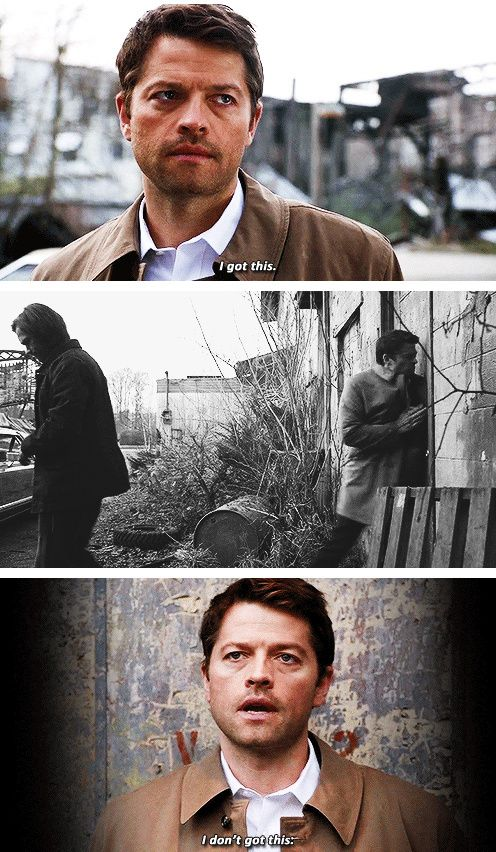 [gifset] 9x22 Stairway To Heaven. I thought he was going to lay out some angel mojo instead he follows the boys example.
