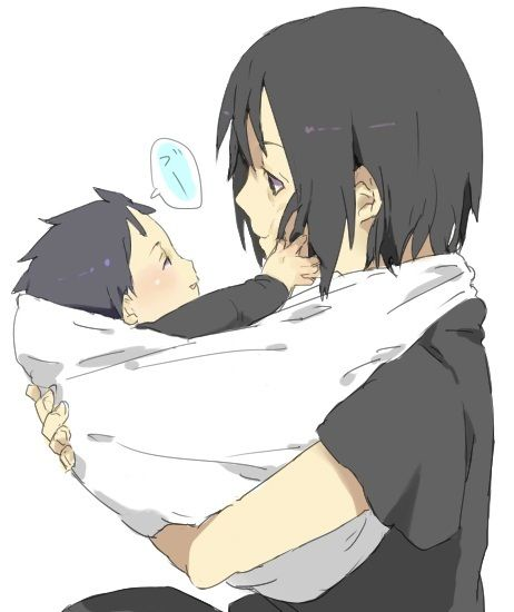 Itachi and Sasuke.  Check out my Naruto fanfiction story The Man That Disappeared: https://www.fanfiction.net/s/9928492/1/The-Man-That-Disappeared