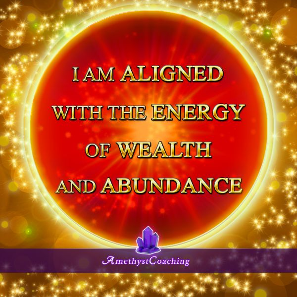 Today's Affirmation: I Am Aligned With The Energy Of Wealth And Abundance <3 #affirmation #coaching It is not enough just to repeat words, while repeating the affirmation, feel and believe that the situation is already real. This will put more energy into the affirmation.