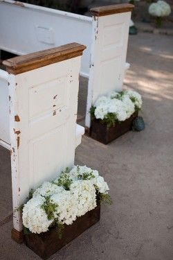 ceremony planter boxes