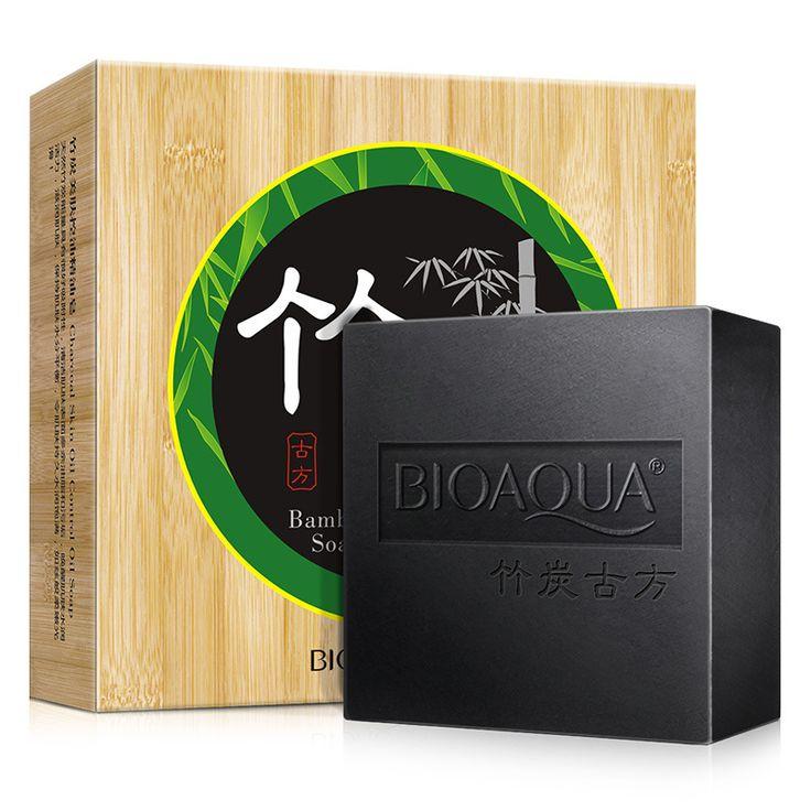 El carbón de bambú jabón hecho a mano jabón de aceite esencial a negro mate lavado de cara limpieza de poros de contracción del producto SBF040
