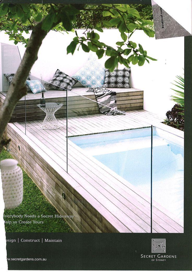 22 best narellan pools symphony pool images on pinterest for Swimming pool landscape