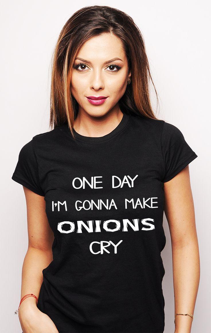 Tricou #ruvix ce face ceapa să plângă!  Comandă aici -> http://ruvix.ro/produs/tricou-onions-cry/