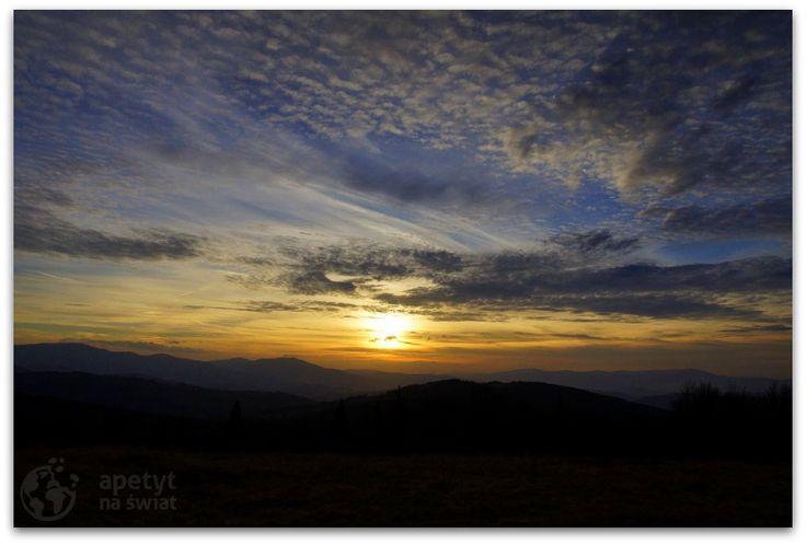 Zachód słońca widziany z Jałowca (1111 m n.p.m.)