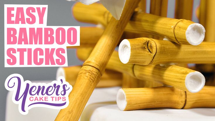 how to make bamboo sticks out of fondant