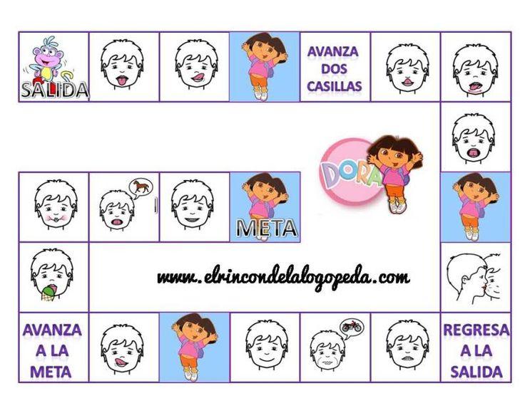 Mis materiales: Praxias con Dora la Exploradora