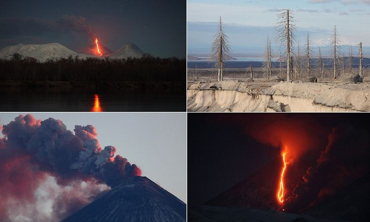 Photographer captures power and destruction of Russia's stratovolcano