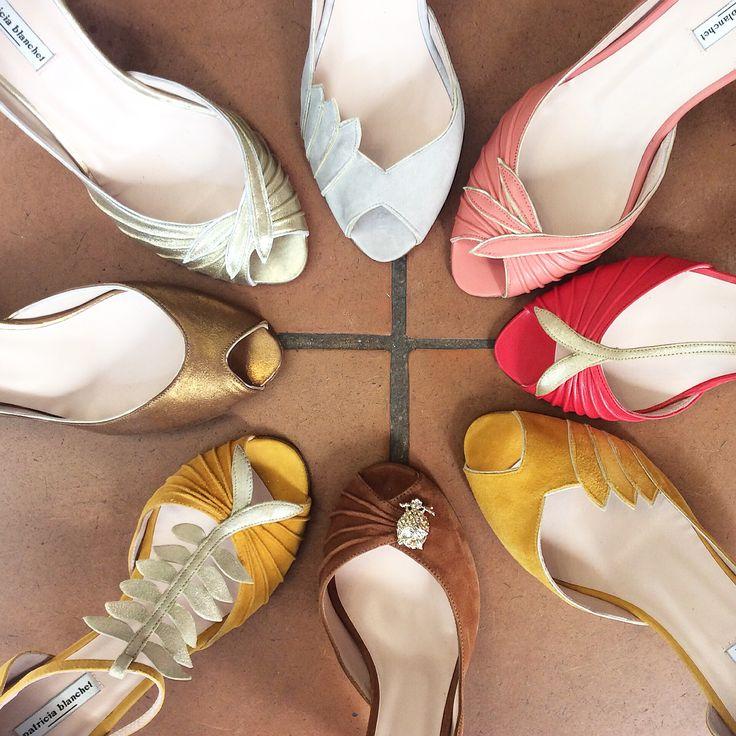 Chaussures Patricia Blanchet Printemps-été 2016 Vendues chez Vanina Escoubet 1 rue Henry Monnier, Paris 9 Gaby, Fargote, Winslow, Psartek.