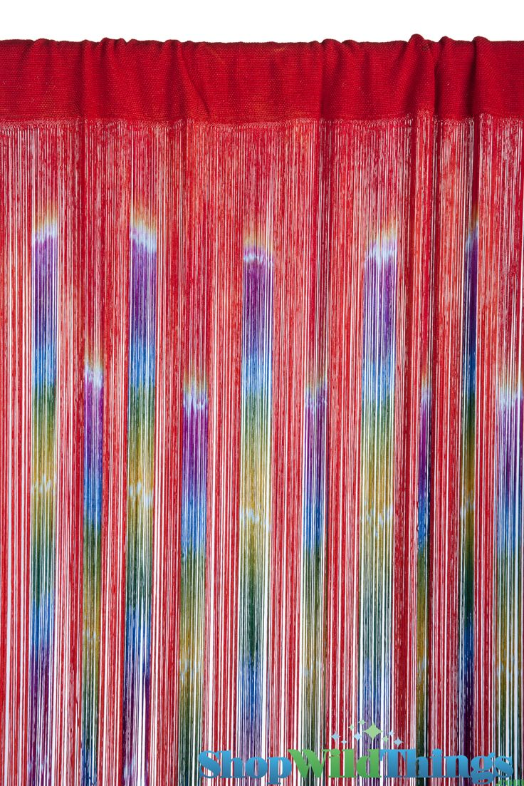 """Multi Color String Curtain Fringe Panel Room Divider: String Curtain """"Gypsy Queen"""" Pattern 3 Ft X 7"""