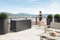 Úložný box LoungeBox® 160, tmavě šedá metalíza