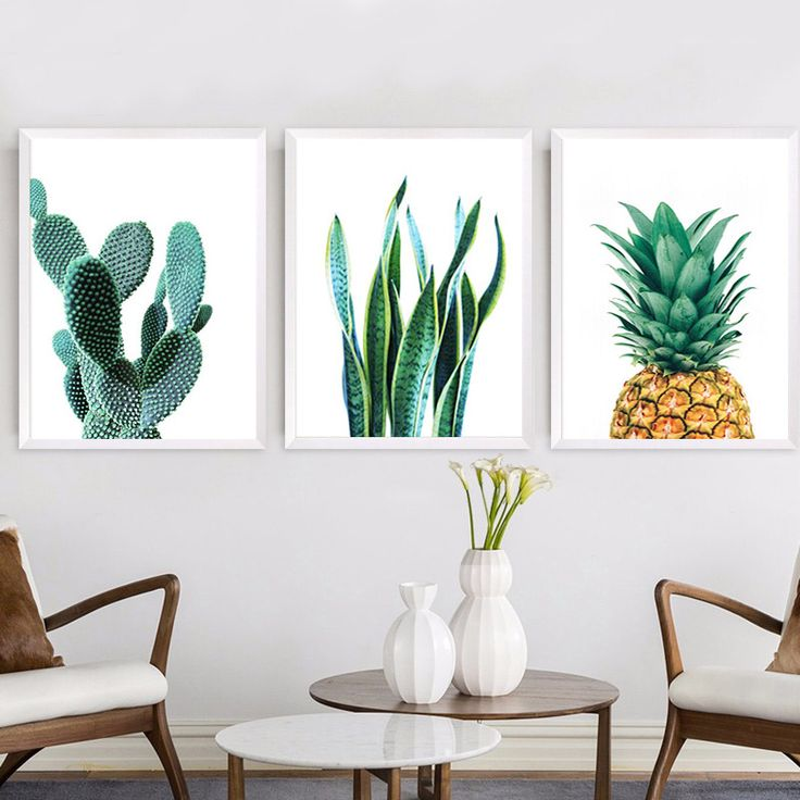 Cheap picture for living room, Buy Quality wall pictures directly from China painting poster Suppliers: Wall Pictures For Living Room Wall Art Canvas Painting Posters And Prints Nordic Decoration Green CactusCuadros No Poster Frame