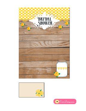 103 best free printable bridal shower invitations templates free printable rustic bridal shower invitation template yellow stopboris Images