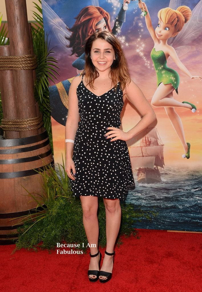 Fabulously Spotted: Mae Whitman Wearing Betsy Johnson - 'The Pirate Fairy' World Premiere - http://www.becauseiamfabulous.com/2014/03/mae-whitman-wearing-betsy-johnson-the-pirate-fairy-world-premiere/