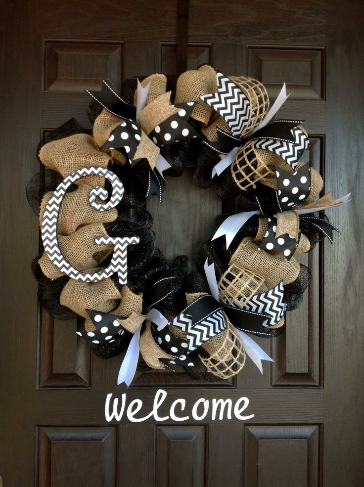Chevron Wreath By J.Wolfe/Brown Door Wreaths and more.