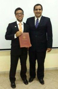 Iván Torales Almirón y el Director de la Carrera Ingeniería Industrial