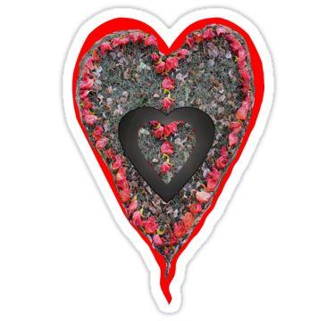 Flower Petal Heart Sticker by StickerNuts