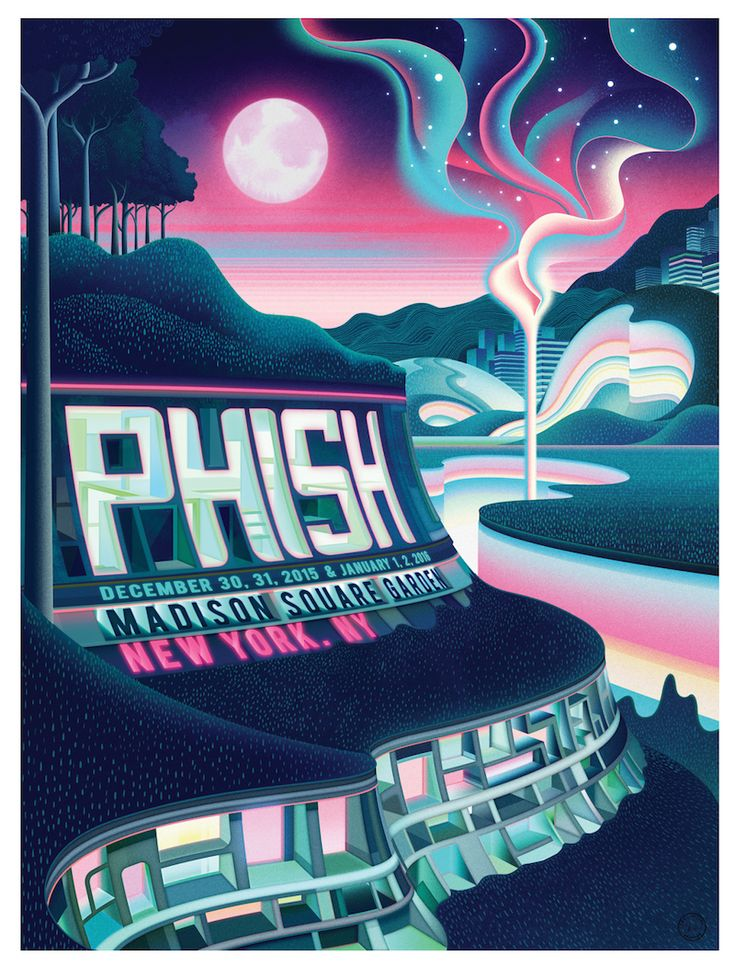 156 best images about concert posters on pinterest pearl - Phish madison square garden tickets ...