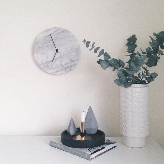 Marcella Clock 30cm   Freedom Furniture and Homewares
