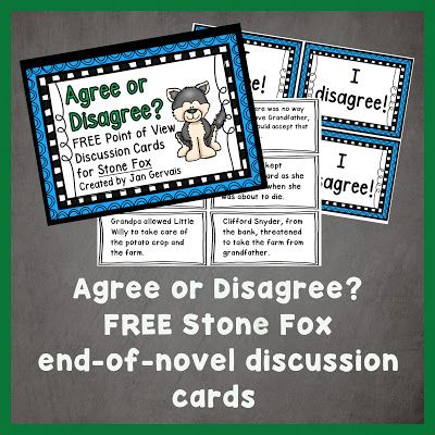 https://www.teacherspayteachers.com/Product/Agree-or-Disagree-Stone-Fox-Discussion-Cards-2431000