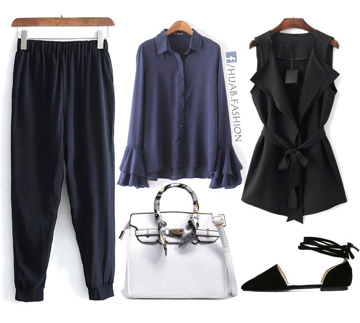 Comfortable Navy Stylish Outfit Idea