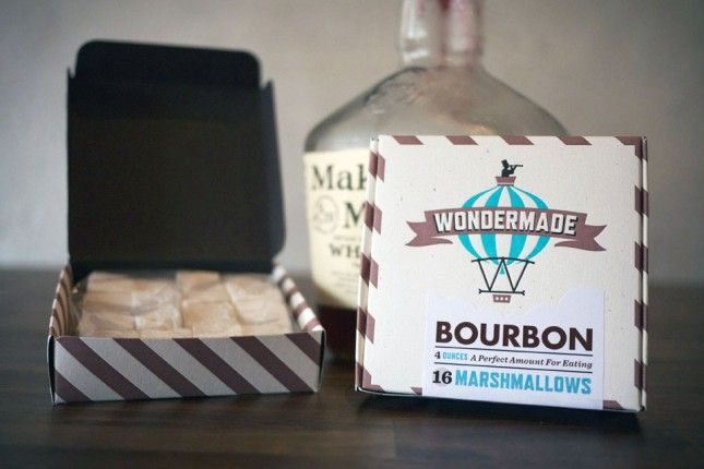 Bourbon Marshmallows - Dark Spirits: 20 Great Gifts for Whiskey Lovers via Brit + Co.
