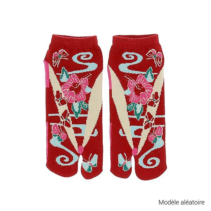 Chaussettes japonaises Tabi  - Forme et motifs authentiques pour des pieds bien au chaud ! - 6,95 €