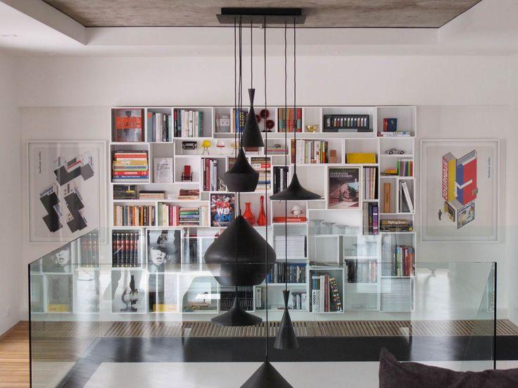 Idée déco mur avec une bibliotheque Cubit