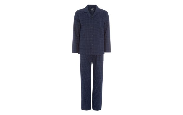 """Traditional Pyjama Set. """"Unwind in style in this classic navy pyjama set, the perfect choice for a good night sleep."""""""