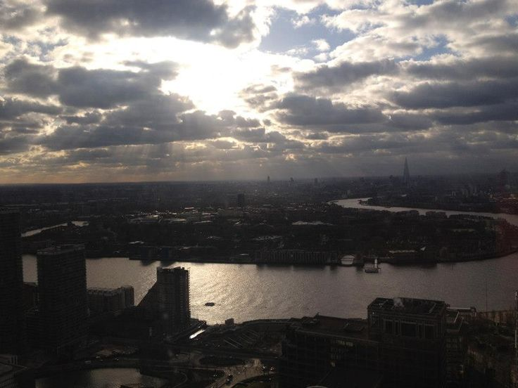 Holvi's Build a Bank   London 2013 -  View from the recently opened Level39 Fintech accelerator space - on the 39th floor in Canary Wharf. #Holvi #FinTech #FutureOfBanking