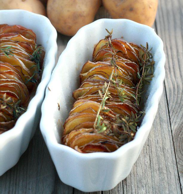 Patate al forno mooolto sottili | http://www.ilpastonudo.it/patate/patate-al-forno-mooolto-sottili/