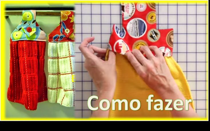 Modelo de BATE MÃO com PANO DE PRATO + molde / Artesanato Passo a Passo.