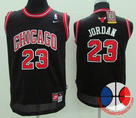 maillot basket nba enfant Chicago Bulls Jordan #23 noir mesh tissu 22,99€