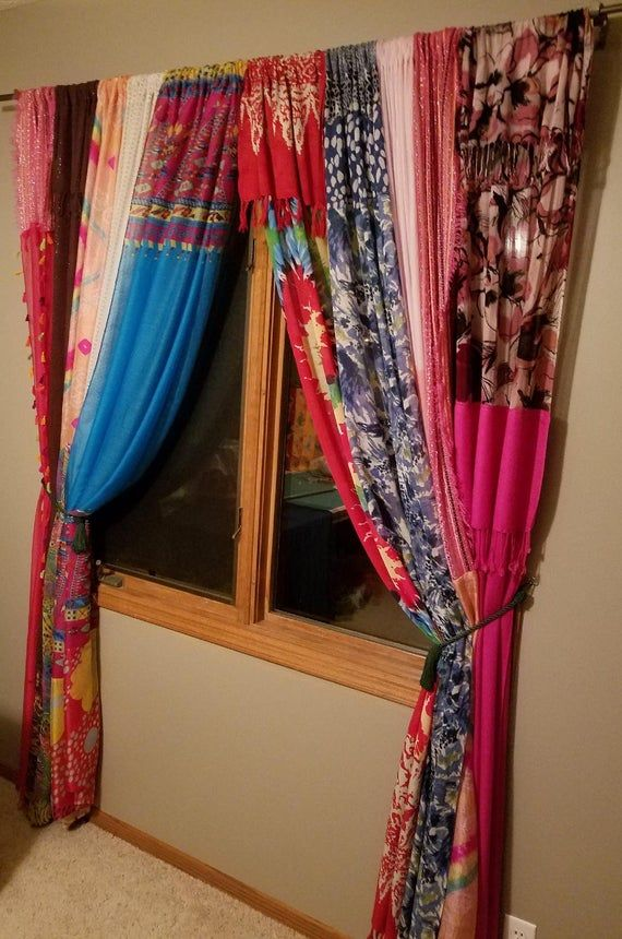 Boho Curtain Panels In Stock Bohemian Curtains Etsy With Images