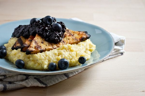 Blueberry Barbecue SauceGrilled Tofu, Tofu Blueberries