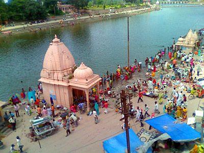 Río sagrado Shipra. Ujjain.
