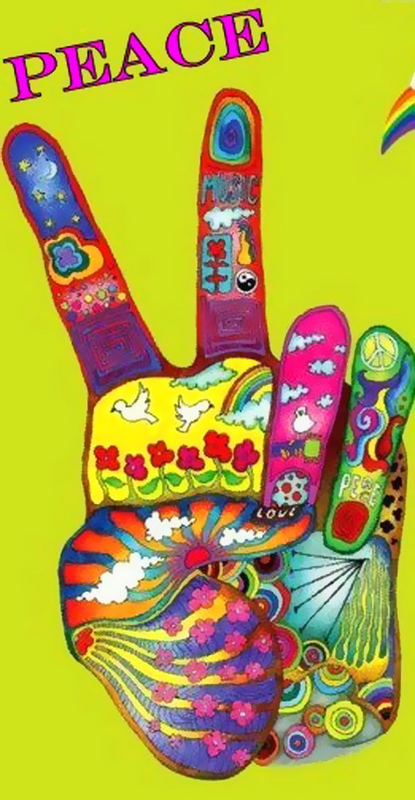 '☮ PEACE ☀' peace sign from previous pinner • bohemian hippie style