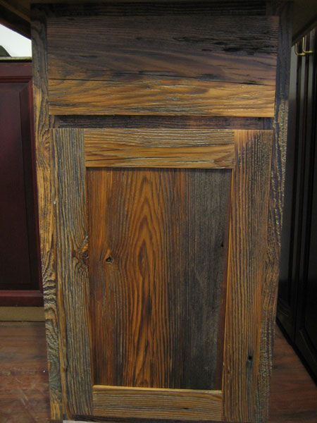 Rustic Barnwood Wall Cabinet Barnwood Kitchen Cabinets Benedict Antique Lumber And Stone