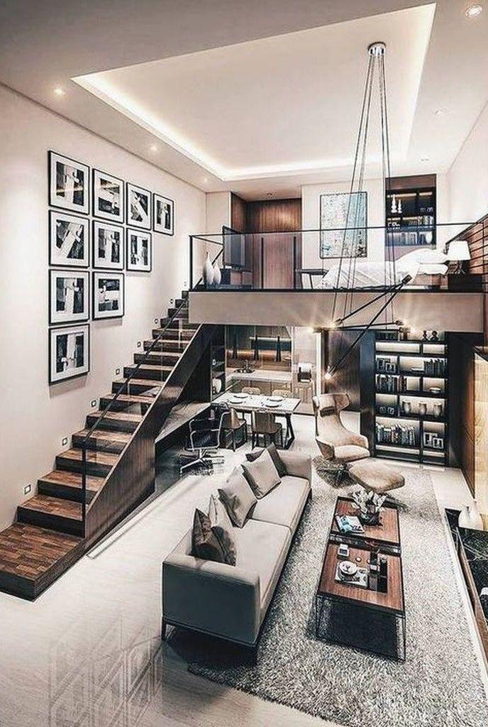 30 Awesome Loft Bedroom Apartment Decoration Ideas Matchness Com Tiny House Interior Design Loft Design Small House Interior