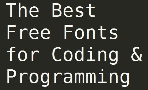 최고의 무료 코딩 글꼴 20선 (개발 폰트/프로그래밍 글꼴)