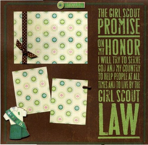 8 Best Girl Scout Scrapbook Layouts Images On Pinterest