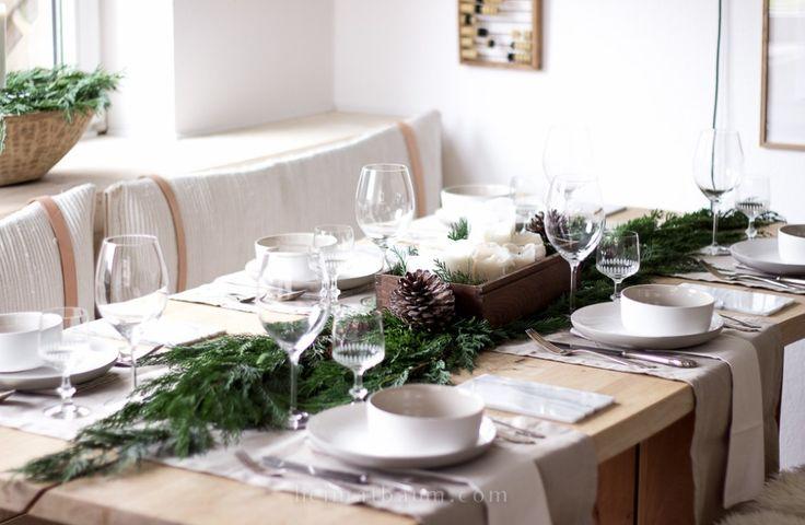 Schlichte Weihnachtstischdeko - Blog - HEIMATBAUM